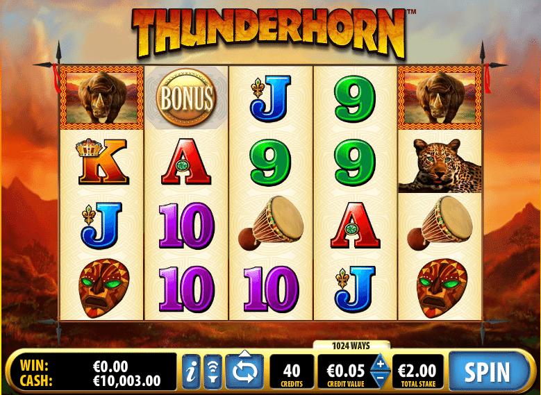 free slot thunderhorn online