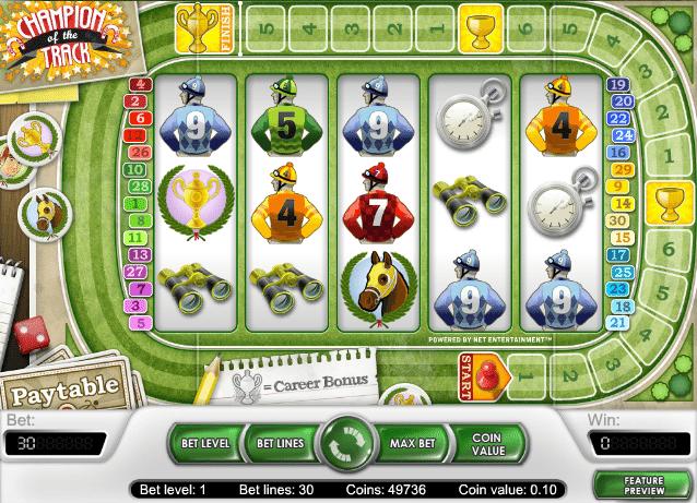 Champion of the Track - Free Online Slot Machine