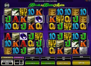 mega spins break da bank again free slot