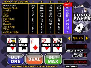 Free Videopoker Bonus Poker