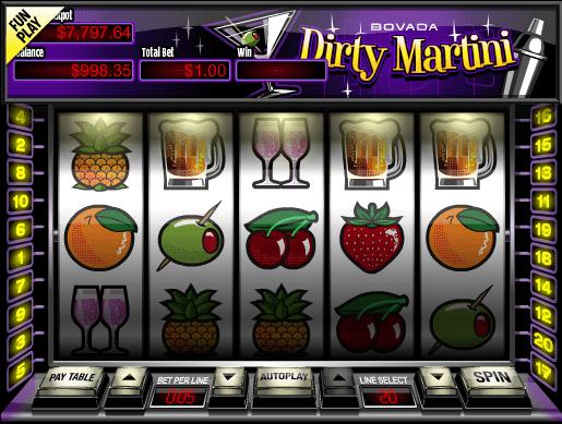 Dirty Martini Slots - Play Real Casino Slot Machines Online