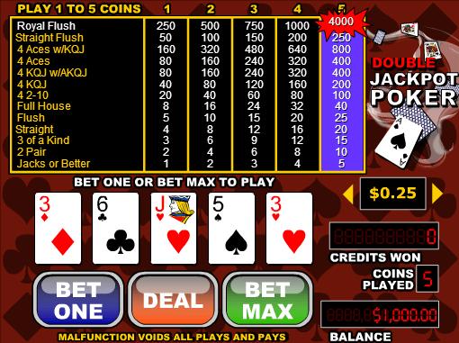Free Videopoker Double Jackpot Poker Online