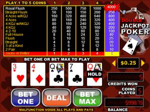 Free Videopoker Double Jackpot Poker