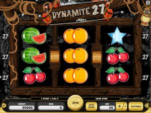 Dynamite 27 Free Slot Machine