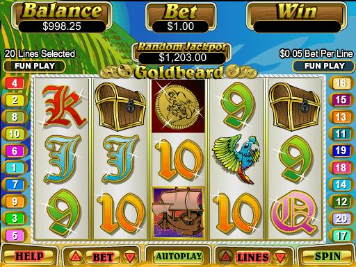 Goldbeard free slot machine