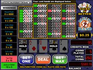 Free Videopoker Joker Poker-52 Hand