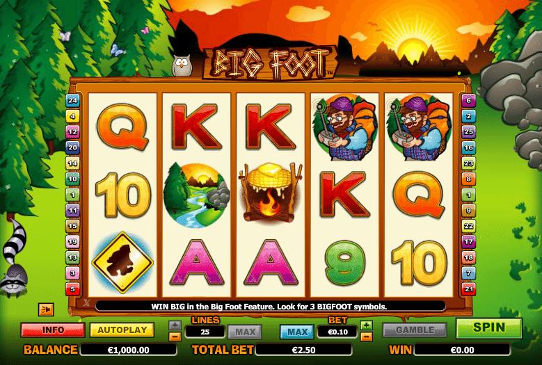 Free Big Foot Slot Online