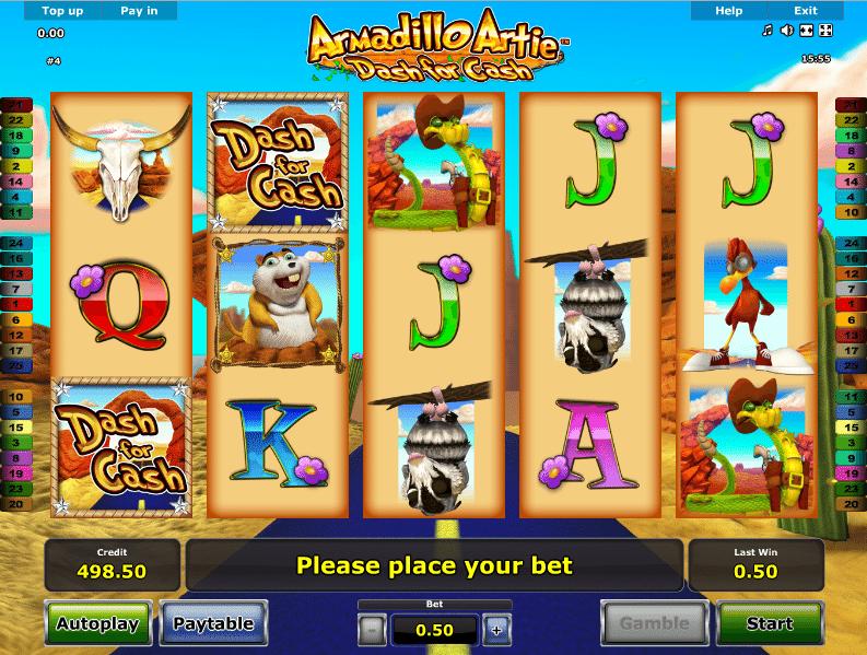 Free Armadillo Artie Dash For Cash Slot Machine Online
