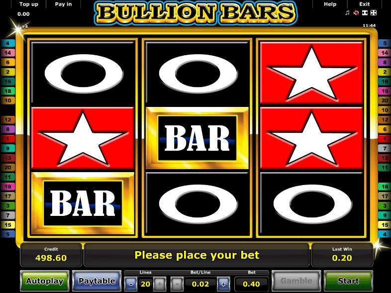 Bullion Bars Free Online Slot