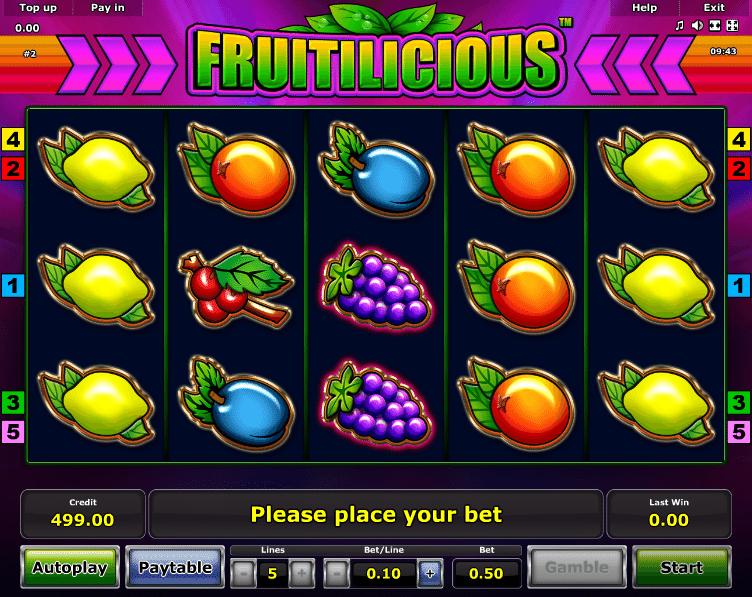 Free Online Slot Fruitilicious