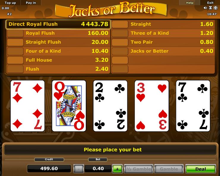 free online slots jacks or better