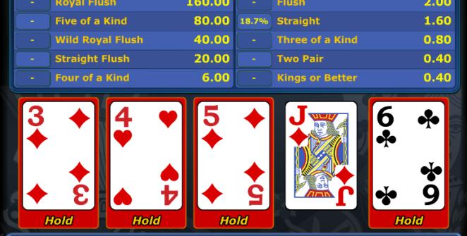 Joker Wild Free Online Videopoker