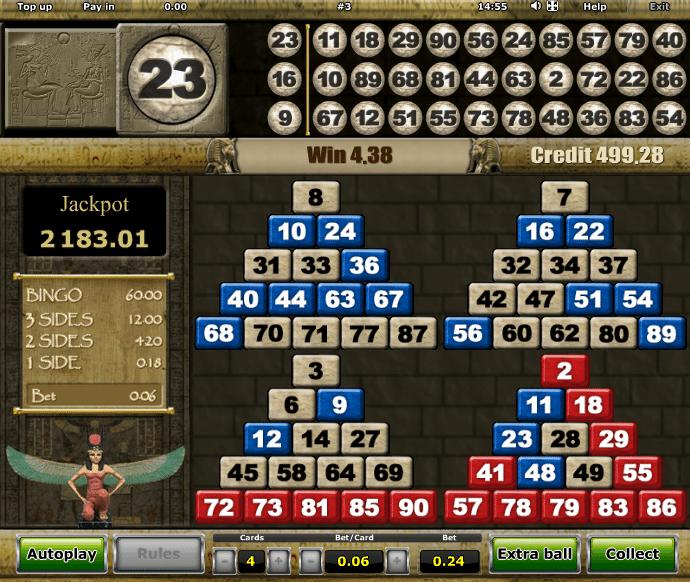 Free Pharaohs Bingo Online