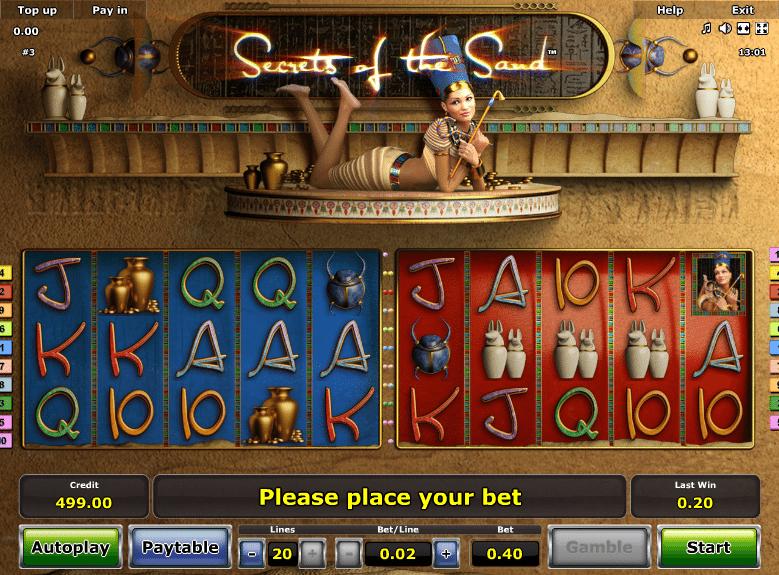 Free Secrets Of The Sand Slot Machine Online