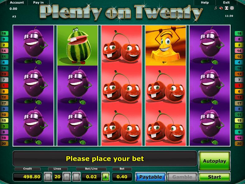 Free Slot Machine Plenty On Twenty