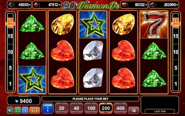 Free Slot 20 Diamonds Online