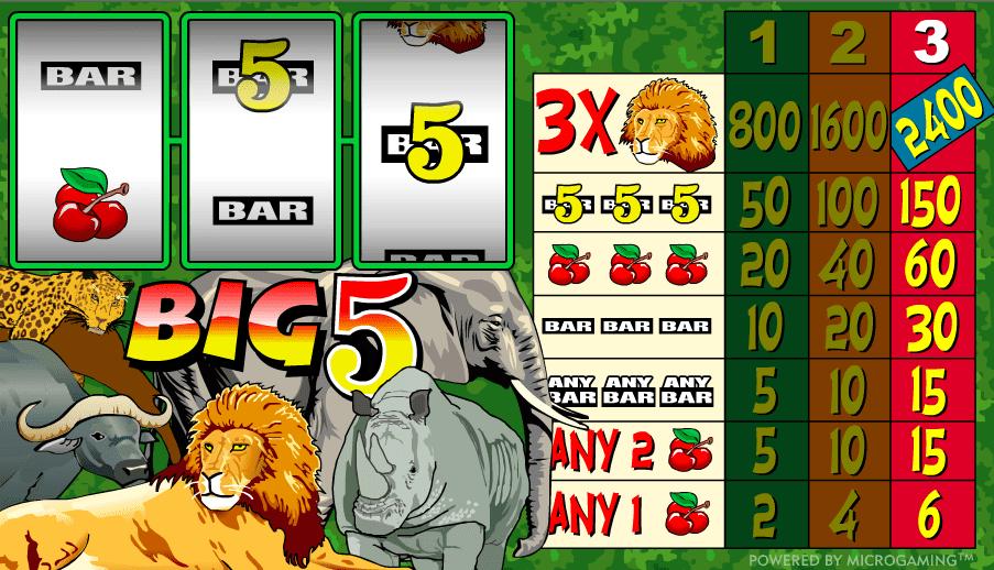 Free Slot Machine Big 5