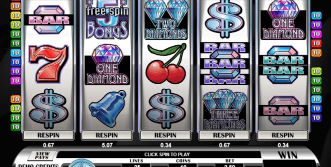 Free Retro Reels Diamond Glitz Slot Online