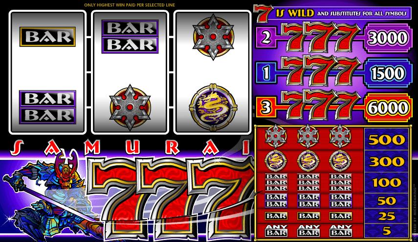 Free Online Slot Samurai Sevens