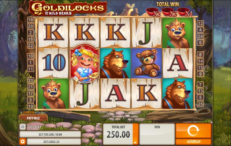 goldilocks online casino game