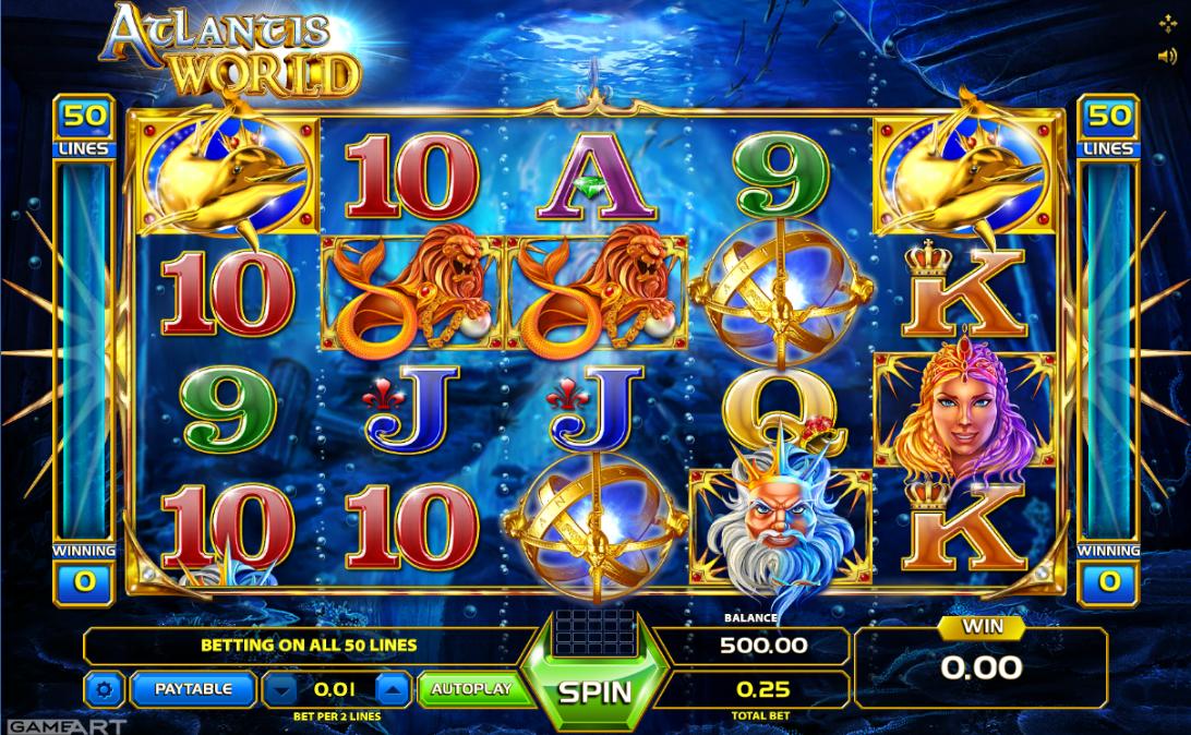 Slot Machine Atlantis World Online Free
