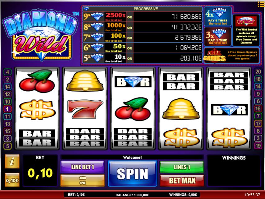 Free Diamonds Wild iSoft Slot Online