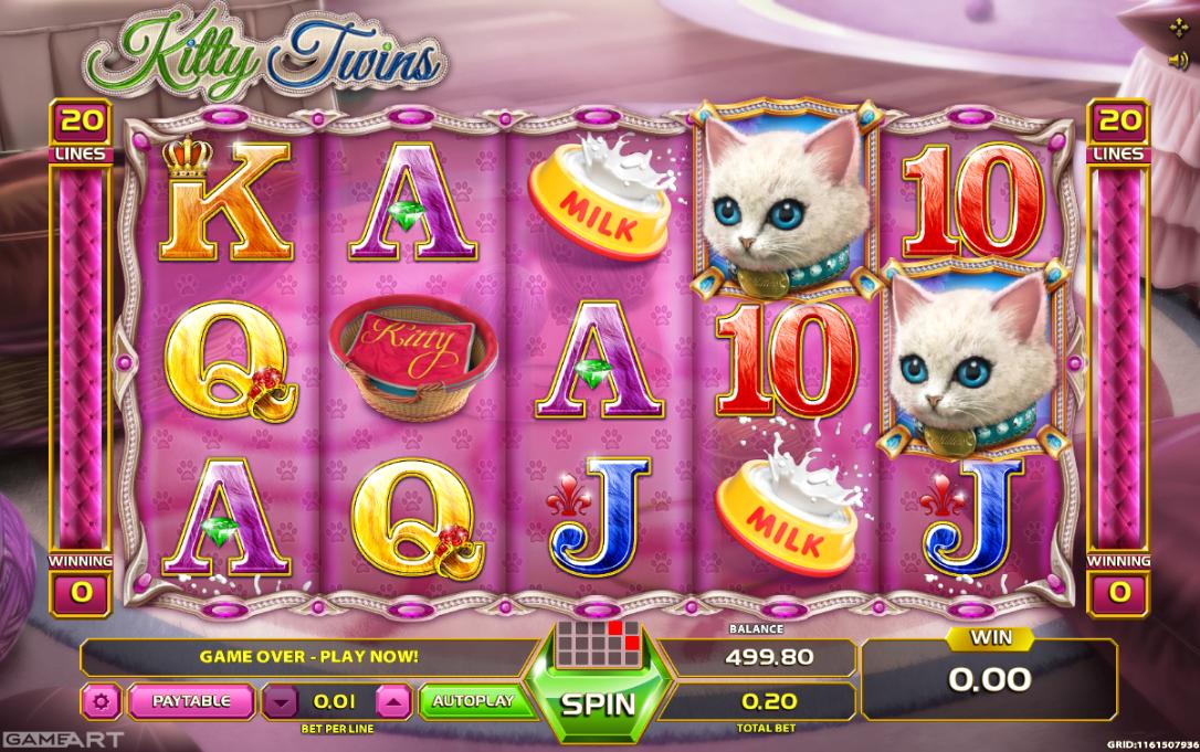 Kitty Twins Slot Machine Online ᐈ GameArt™ Casino Slots