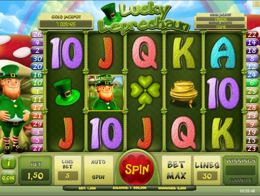 Slot Machine Lucky Leprechaun iSoft Online Free