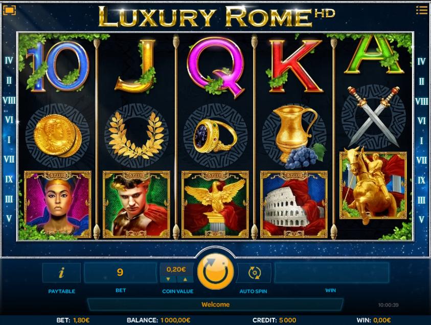 Free Luxury Rome Slot Online