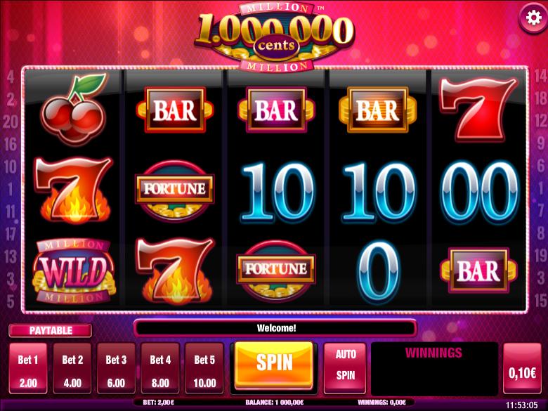 Million Cents Free Online Slot