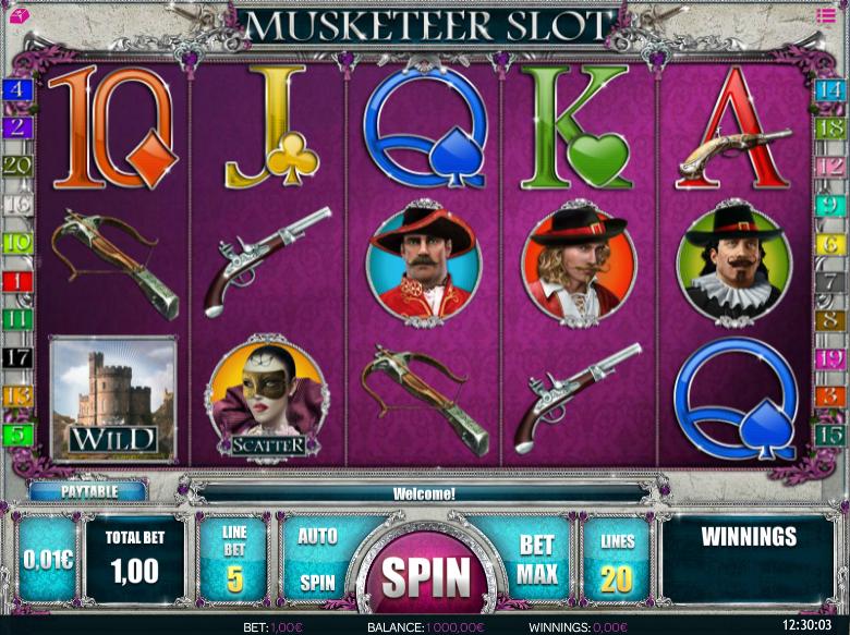 Slot Machine Musketeer Slot Online Free