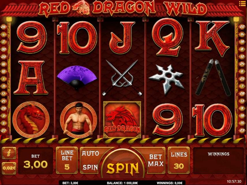 Slot Machine Red Dragon Wild Online Free