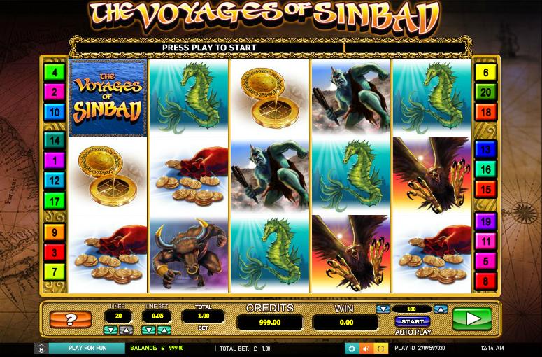 The Voyages of Sinbad Slot Machine Online ᐈ Leander Games™ Casino Slots