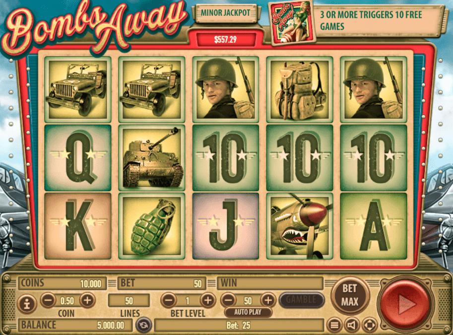 Slot Machine Bombs Away Online Free
