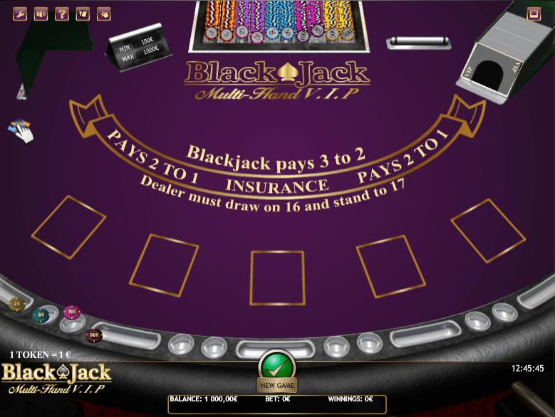 Free Black Jack Multihand VIP Online