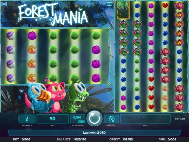 Slot Machine Forest Mania Online Free