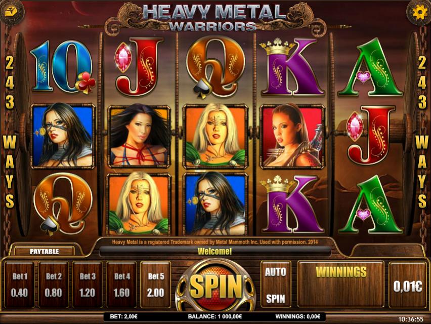 Free Heavy Metal:Warriors Slot Online