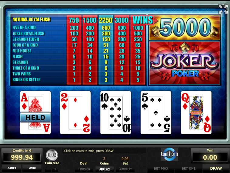 Spiele Joker Poker (EGT) - Video Slots Online