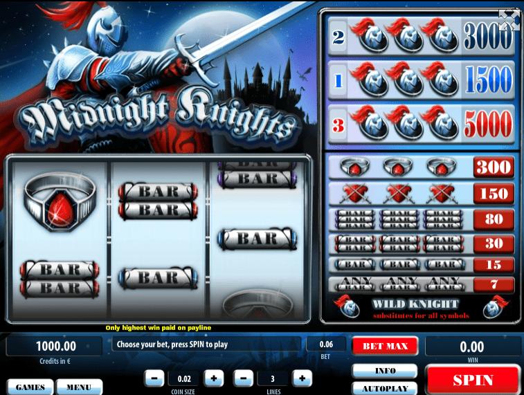 Slot Machine Midnight Knights Online Free