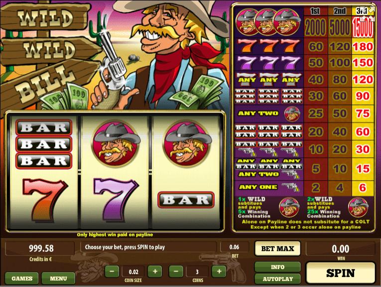 Slot Machine Wild Wild Bill Online Free