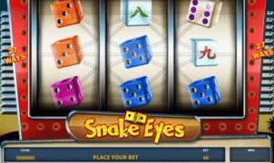 Free Snake Eyes Slot Online