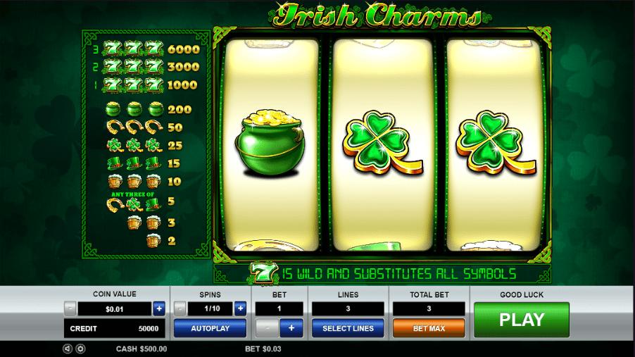играть бесплатно в казино irish luck