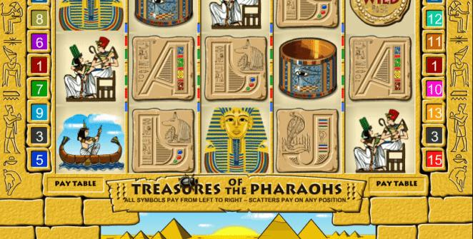 Treasures of the Pharaohs Free Online Slot
