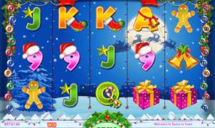 Slot Machine Santa in Town Online Free