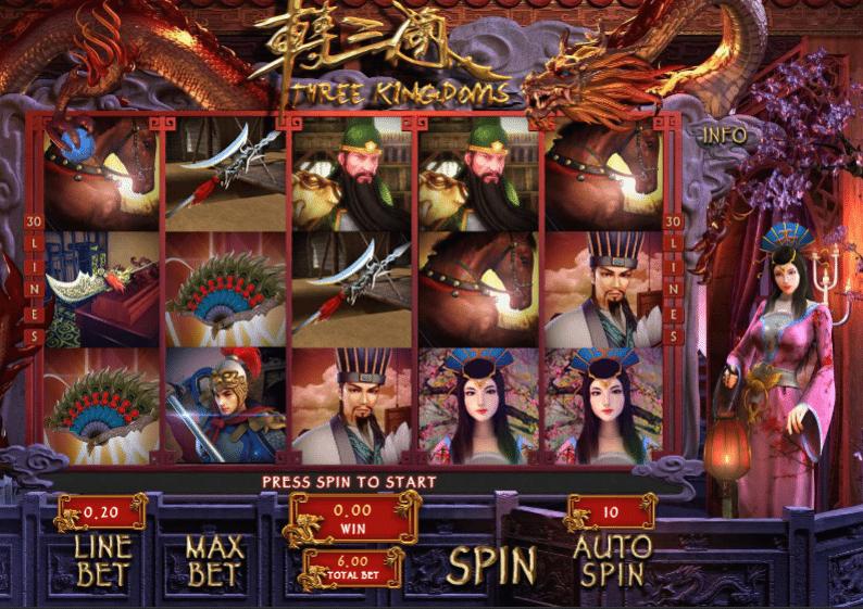 Spielautomat three kingdoms gameplay online kostenlos spielen