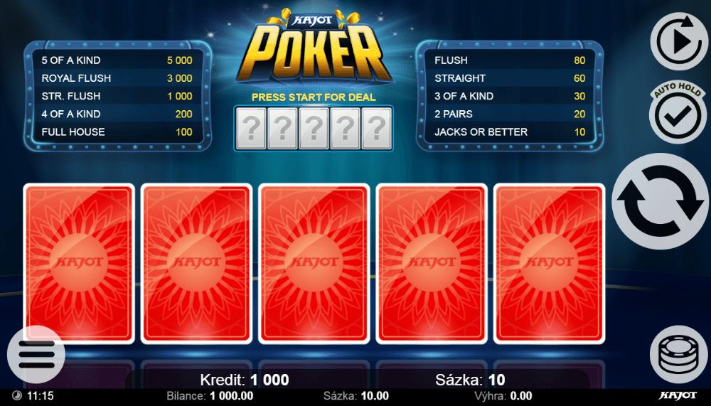 Slot Machine Kajot Poker Online Free