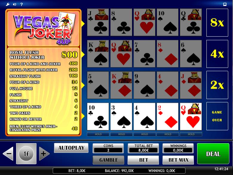 Free Joker Vegas 4UP Slot Online