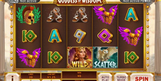 Slot Machine Age of Gods Goddess of Wisdom Online Free