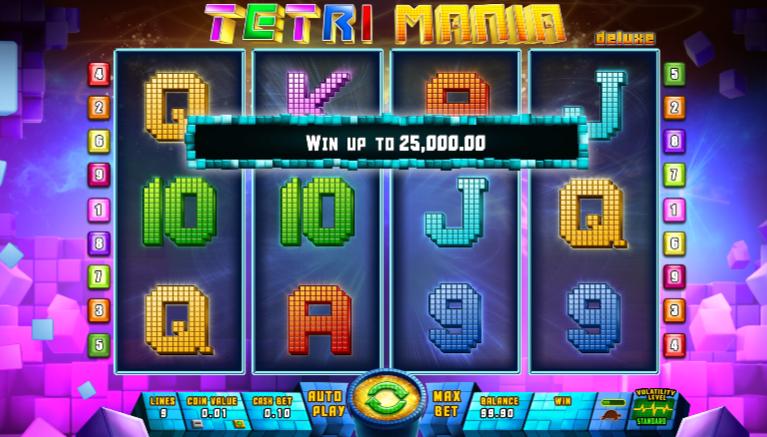 Free Tetri Mania Deluxe Slot Online