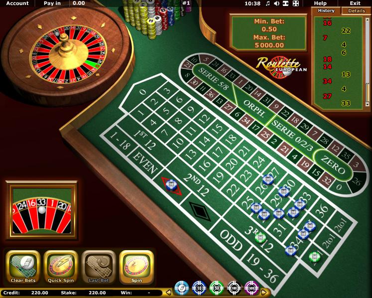 slot online european roulette online